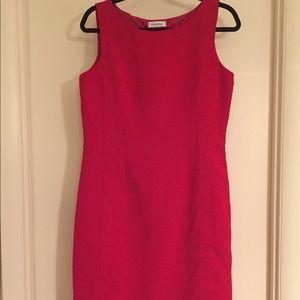 Red Calvin Klein Sheath Shift Dress
